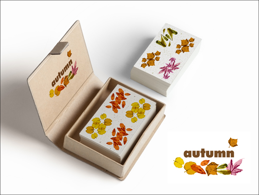 autumn playing cards